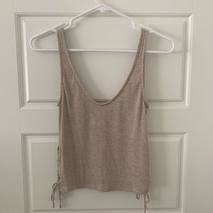 NWT Large Urban Outfitters Tan Cropped Tank Top